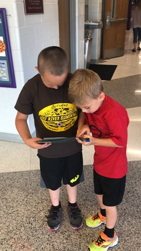Bear Academy Students participated in school scavenger hunt